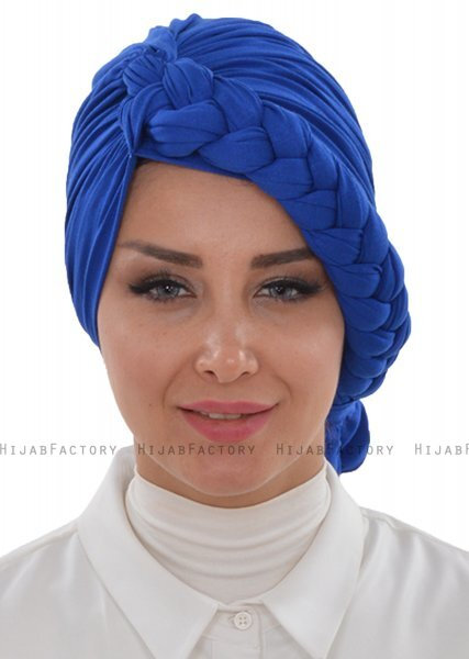 Theresa - Turbante Di Cotone Azul - Ayse Turban
