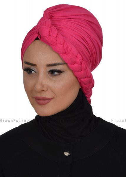 Theresa - Turbante Di Cotone Fucsia - Ayse Turban
