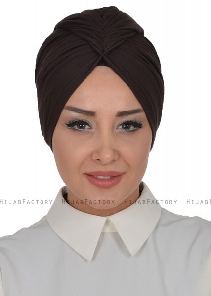 Amy - Turbante De Algodón Marrón - Ayse Turban