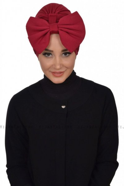 Julia - Turbante De Algodón Burdeos - Ayse Turban