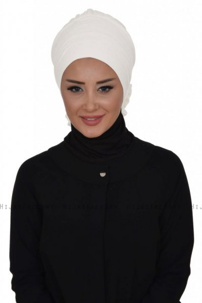 Monica - Turbante De Algodón Blanco - Ayse Turban